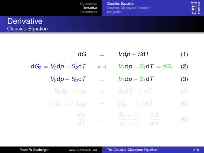 Mini-Presentation on the Clausius-Clapeyron-Equation (Preview)
